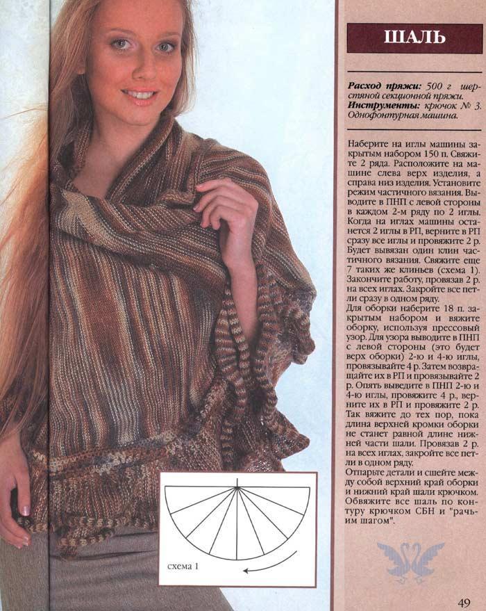 Шали и палантины - Машинное вязание: Группы - Страна Мам